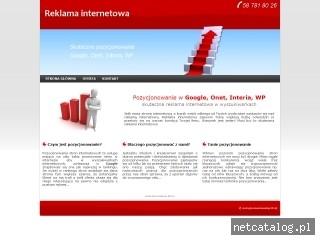 Zrzut ekranu strony www.pozycjonowaniewtop10.pl