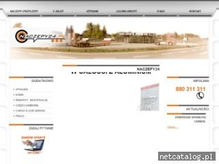 Zrzut ekranu strony naczepy24.pl