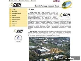 Zrzut ekranu strony www.cgh.com.pl