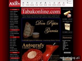 Zrzut ekranu strony www.tabakonline.com