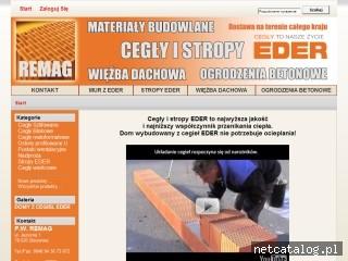 Zrzut ekranu strony www.cegly-eder.pl