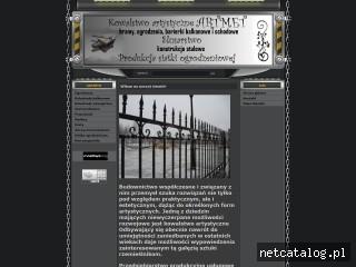 Zrzut ekranu strony artmet.org.pl