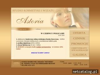 Zrzut ekranu strony astoria.waw.pl
