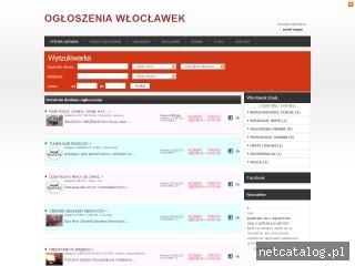 Zrzut ekranu strony www.ogloszenia-wloclawek.pl