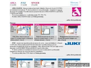 Zrzut ekranu strony maszynyiowerloki.pl