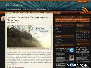 Zrzut ekranu strony zielinsky.eu
