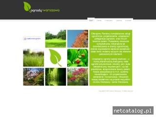 Zrzut ekranu strony www.ogrody-warszawa.com