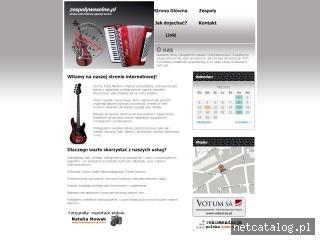 Zrzut ekranu strony www.zespolyweselne.pl