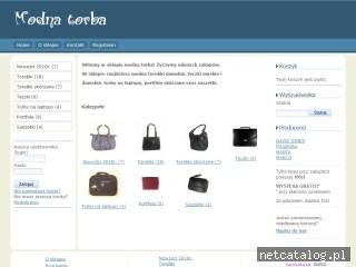 Zrzut ekranu strony www.modnatorba.pl