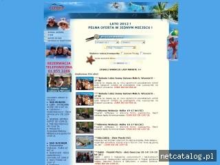 Zrzut ekranu strony www.kolonieobozy.com
