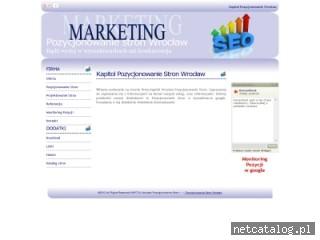 Zrzut ekranu strony www.kapitol.pvd.pl