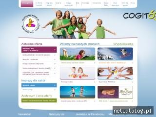 Zrzut ekranu strony www.obozy.pl