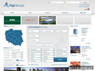 Zrzut ekranu strony www.topbiura.pl