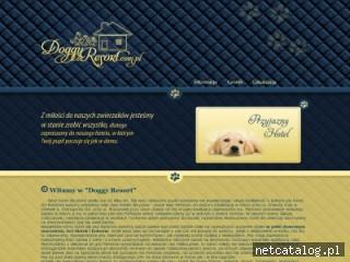 Zrzut ekranu strony www.doggyresort.com.pl