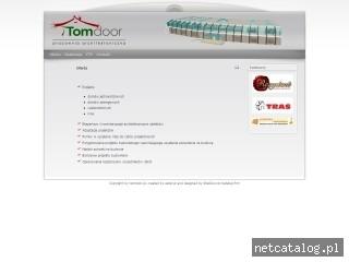 Zrzut ekranu strony www.tomdoor.pl
