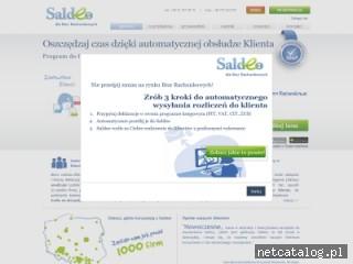 Zrzut ekranu strony www.saldeo.pl