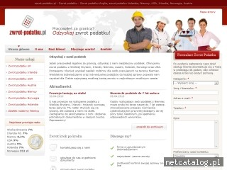 Zrzut ekranu strony www.zwrot-podatku.pl