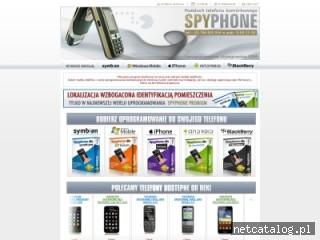 Zrzut ekranu strony www.sklep-spyphone.pl