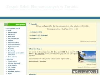 Zrzut ekranu strony www.zset.pl
