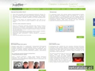 Zrzut ekranu strony secondhairclinic.pl
