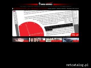 Zrzut ekranu strony www.towergraphics.pl