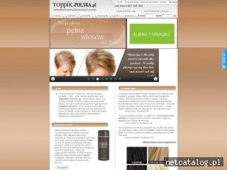 Zrzut ekranu strony www.toppik-polska.pl