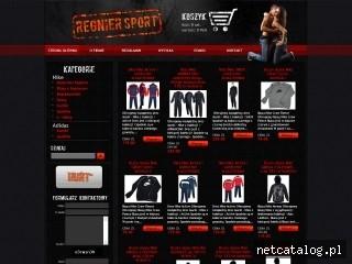 Zrzut ekranu strony www.regnier.pl