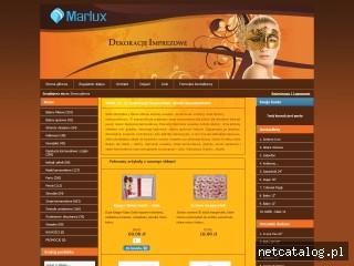 Zrzut ekranu strony www.marlux.eu