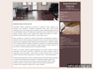 Zrzut ekranu strony www.apartamentgdynia.net.pl