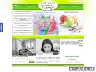 Zrzut ekranu strony www.dietetyczneinspiracje.pl