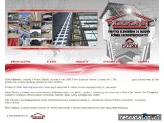 Zrzut ekranu strony rodonit.pl