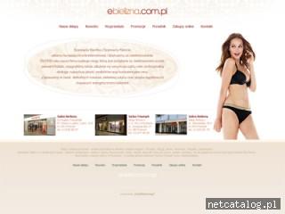 Zrzut ekranu strony ebielizna.com.pl