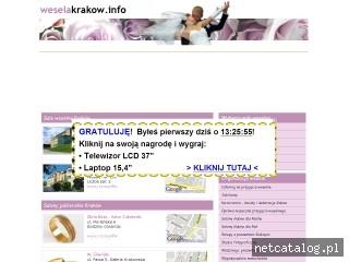Zrzut ekranu strony www.weselakrakow.info