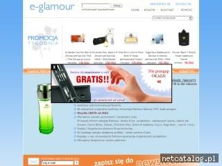 Zrzut ekranu strony www.e-glamour.pl