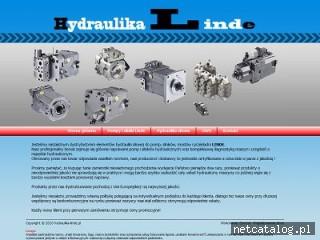 Zrzut ekranu strony hydraulika-linde.pl