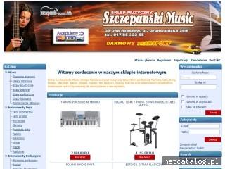 Zrzut ekranu strony www.szczepanski-music.com