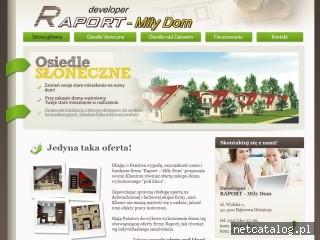 Zrzut ekranu strony www.raport-milydom.pl