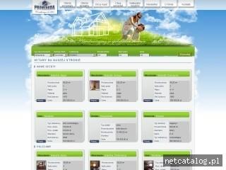Zrzut ekranu strony promenadanieruchomosci.pl