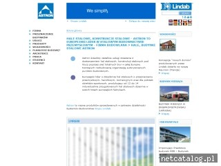 Zrzut ekranu strony www.astron.pl