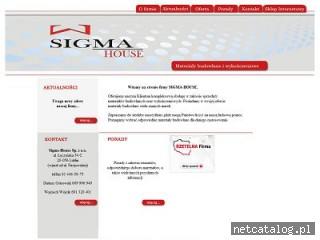 Zrzut ekranu strony www.sigma-house.pl
