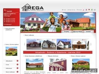 Zrzut ekranu strony www.rega.pl