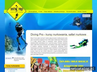 Zrzut ekranu strony www.divingpro.eu