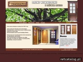Zrzut ekranu strony www.kostar.pl