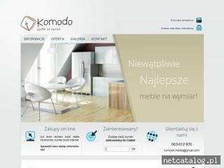 Zrzut ekranu strony www.komodo-meble.pl