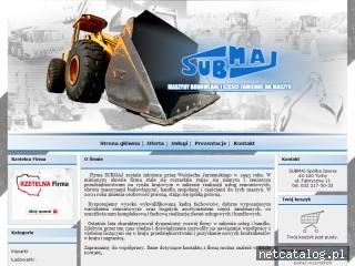 Zrzut ekranu strony sub-maj.com.pl