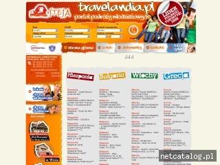 Zrzut ekranu strony www.travelandia.pl