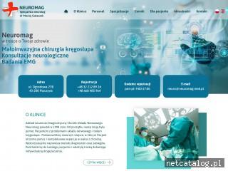 Zrzut ekranu strony www.neuromag.med.pl