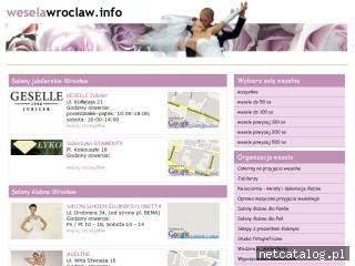Zrzut ekranu strony www.weselawroclaw.info