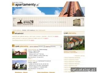 Zrzut ekranu strony www.nowedomykrakow.apartamenty.pl