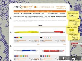 Zrzut ekranu strony www.adpen.com.pl